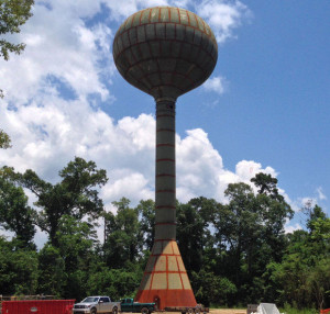 New Mandevile water tower off Rapatel Street is shown in this June 3,2015 photo. (Kim Chatelain, NOLA.com | The Times-Picayune)